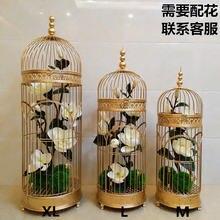 Красивая Большая Золотая свадебная клетка для птиц