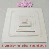 (200pcs/lot) 100 110mm Blank Circle square Wooden With 2.5mm thick Family decoration, party party supplies 001
