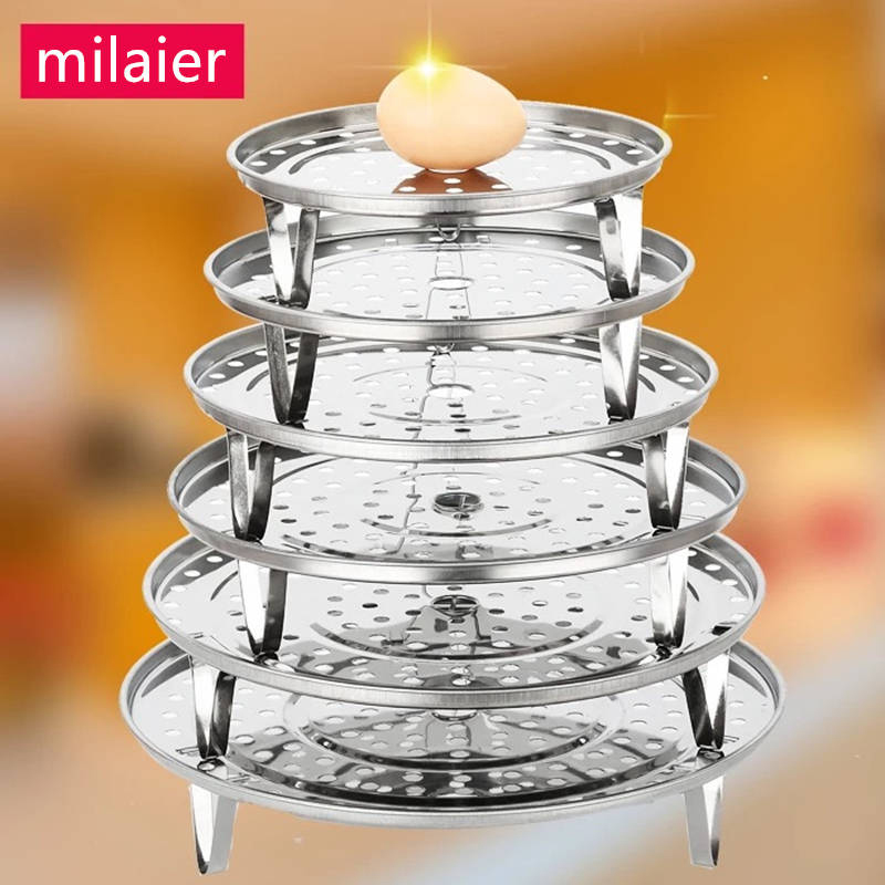 Kitchen Stainless Steel Steamer Rack Steamed Rice Dumplings Steamed Bread Thickened Steamer 18-30CM Steamer