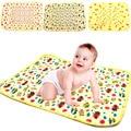 1Set=3pcs,100% Cotton Baby Crib Stroller  Pram Waterproof  Bed Nappy Changing Sheet Mat Cover Urine Pad Mattress L/ M/S Size