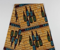 6 Yards Piece African Super Wax Fabric Prints Batik Nigerian 100 Cotton Material For Dress