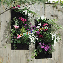 Indoor Outdoor Wall Balcony Herbs Garden Hanging Planter Bag Plant Pots  Boxes(China)