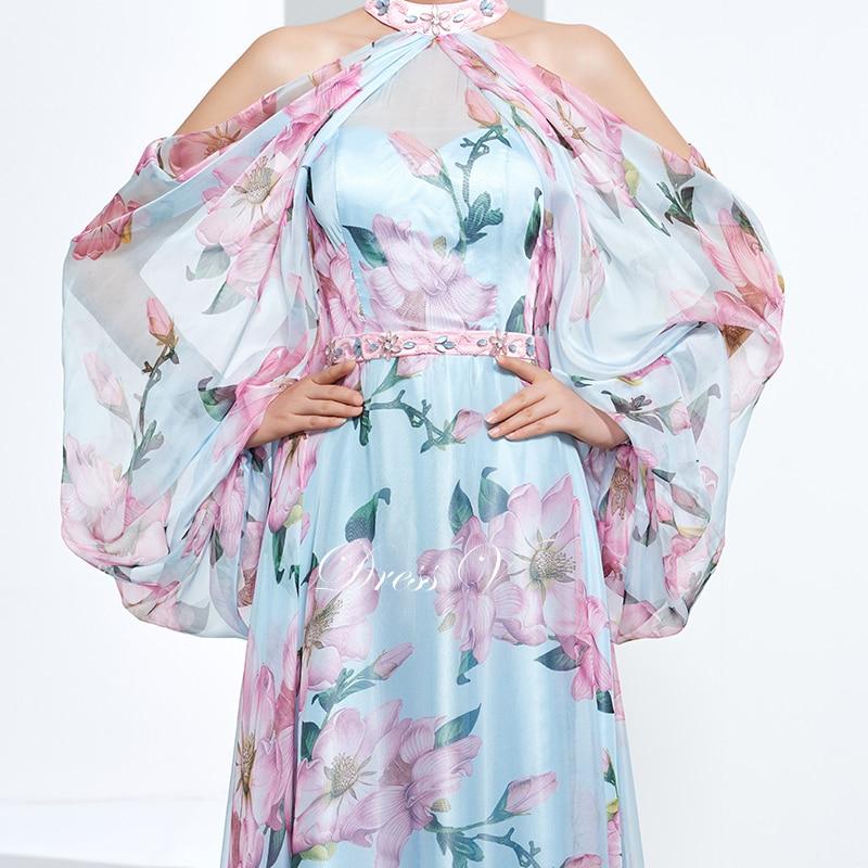 Dressv jeftini tiskanje prom party večernja haljina ular line dugim - Haljina za posebne prigode - Foto 4
