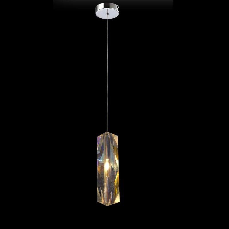 Suspension Llight Crystal Pendant Shade Hanging Lights Kitchen Shades Lighting Lamp Single Dining Room Modern Led Industrial