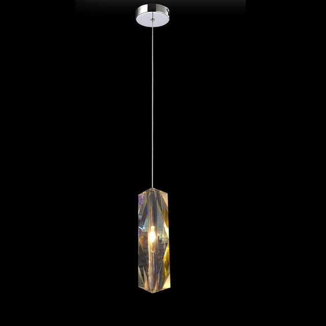 Suspension Llight Crystal Pendant Shade Hanging Lights Kitchen Shades Lighting Lamp Single Dining Room Modern Led