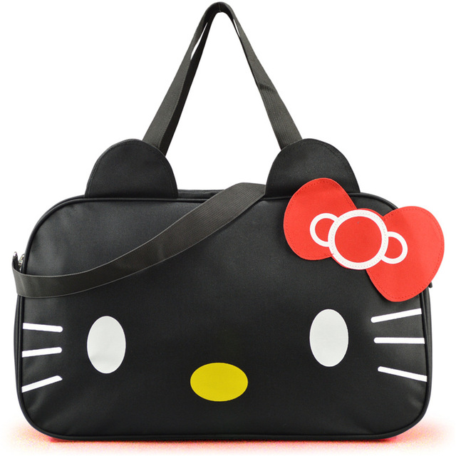 5ac88ce9d Cute women HelloKitty large travel bag cat cartoon high quality Oxford  waterproof shoulder bag for girls