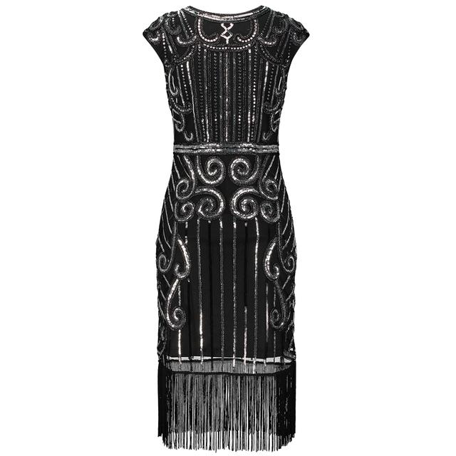 Vintage 1920s dress for women in black