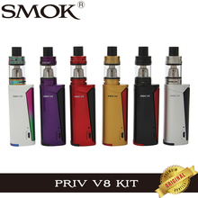 Original Smok Priv V8 Kit with 60W Priv V8 Box Mod Vape and 3ml TFV8 Baby Tank Atomzier E Cigarette Vapor Kit