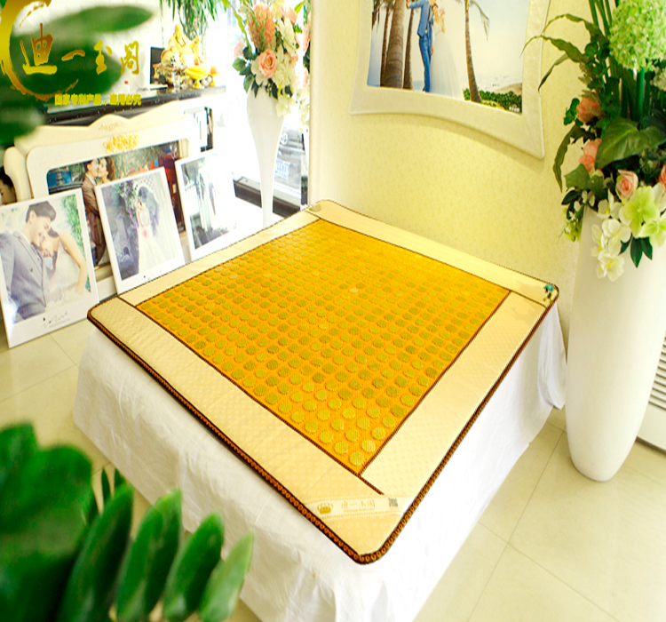 Best quality! Natural Jade mattress jade Infrared heat Physical therapy mat tourmaline mat AC220V size 1.0X1.9M,Free shipping