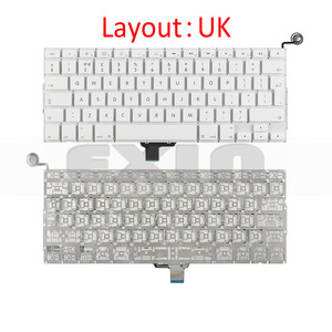 """Image 3 - New A1342 Keyboard US USA English UK French Russian Keyboards for Apple Macbook 13"""" inch Unibody White A1342 US Keyboard Year"""