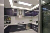 High gloss/lacquer kitchen cabinet mordern(LH LA078)