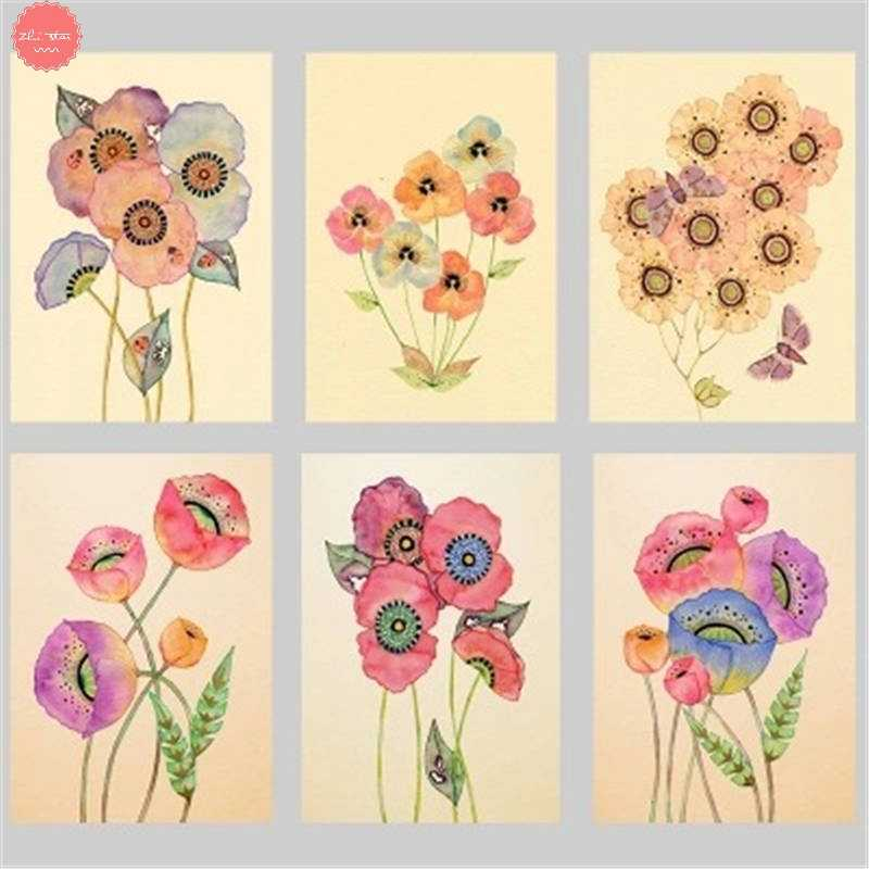 diamond painting watercolor flowers and birds diamond embroidery sale christmas new year decorations for home