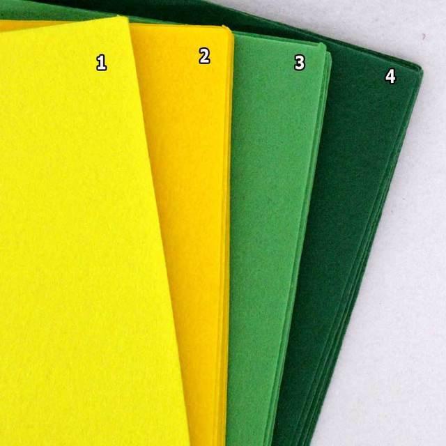GreenYellow Color Felt Cloth 1mm Felt Fabric Polyester Felt ...