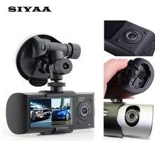 Двойная камера Автомобильный видеорегистратор R300 с GPS и 3D g-сенсор 2.7 «TFT LCD Cam видеокамера цикл записи цифровой зум камеры черточки