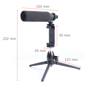 Image 3 - הקבל וידאו הקלטת מיקרופון עבור טלפון Nikon Canon Sony DSLR מצלמה Vlogging ראיון מיקרופון עם חצובה