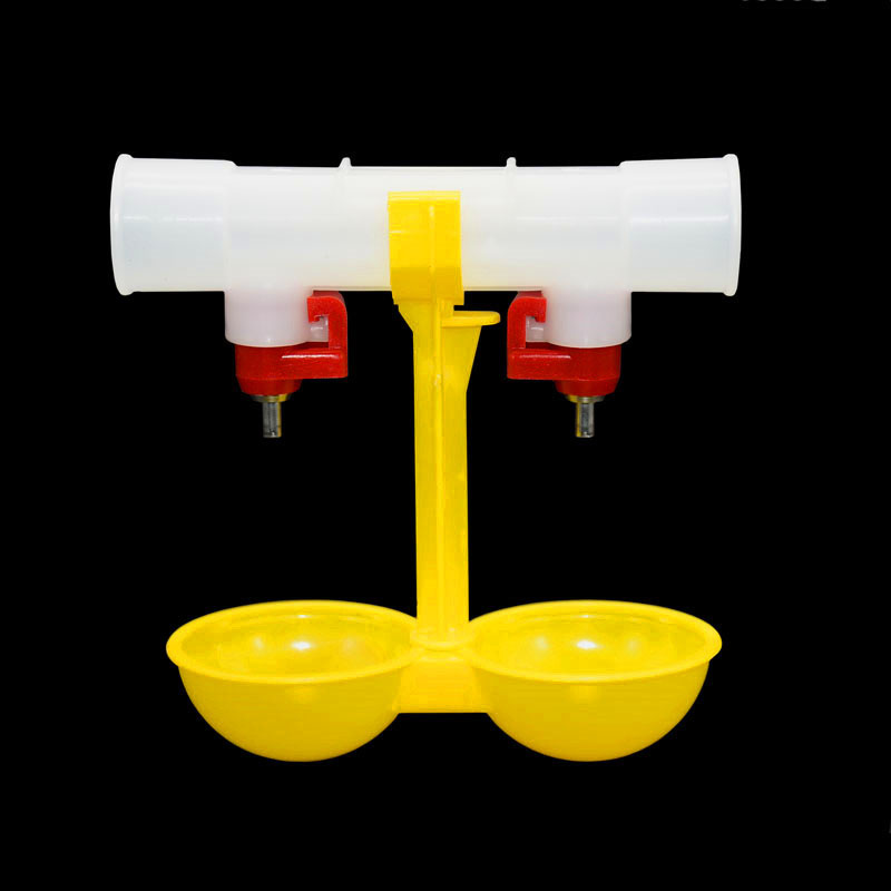 US $1 32 20% OFF|1pcs Chicken drinking cup Quail water bowls Double Hanging  Cup Pheasant drink Chicken Tools Chicken Poultry supplies-in Feeding &