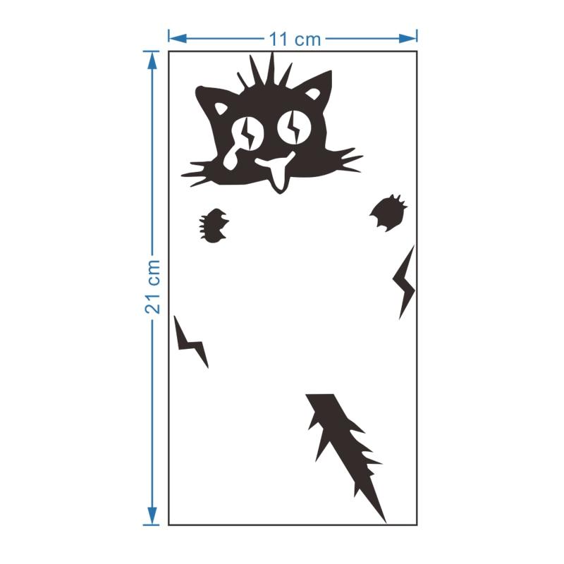 Autocollants de commutation de dessin animé | Autocollant mural de décor pour la maison, décoration de salon, chat électrique en forme de chat, en vogue, pour enfants