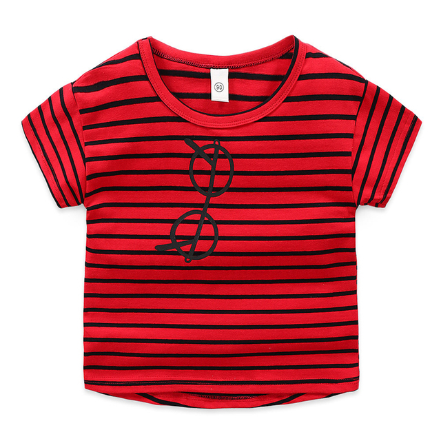 Vestiti del bambino del capretto Dei Ragazzi t-shirt a maniche corte per bambini di estate nuovi vestiti compassionevole della banda Gli Occhiali di stampa 2