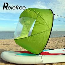 Relefree 42″ Kayak Wind Paddle Sailing Kit Board Downwind Boat with Clear Window fishing accessories wing Canoe Wind Paddle