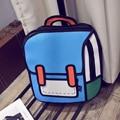 Women Girls Preppy Style 3D Backpack Drawing Sholder Bag for Girls Cartoon Bag Comic Backpack Students Schoolbag