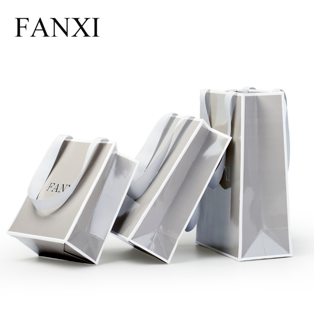 fanxi pcs lot jewelry ring necklace bangle watch gift paper  fanxi 12pcs lot jewelry ring necklace bangle watch gift paper bags whole cheap gray paper