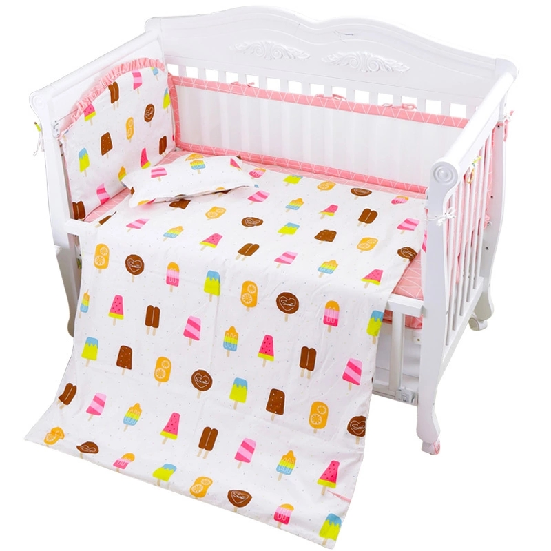 7pcs Full Cotton Bedclothes for Crib Multi Colors Baby Bedding Set Include Air Mesh Breathable Bumpers Pillow Quilt Bed Sheet 7 pcs set ins hot crown design crib bedding set kawaii thick bumpers for baby cot around include bed bumper sheet quilt pillow