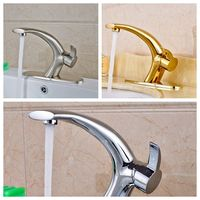 Wholesale And Retail Bathroom Sink Faucet Vanity Sink Tap 3 Colors Single Lever W 8 Cover