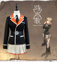 Song of Time project Gloria Vella Uniforms Cosplay Costume Free Shipping