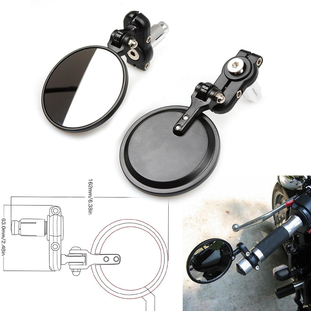 "Universal Motorbike 7/8"" 22mm modified Billet handle Bar Rearview Mirror For MV Agusta Triumph Bajaj Vespar Hyosung Moto Guzzi"