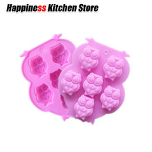Non-stick Silicone Chocolate Molds Animal Shaped Jelly Ice Cake Mould Bakeware Cute Baking Tools Speacial Gifts