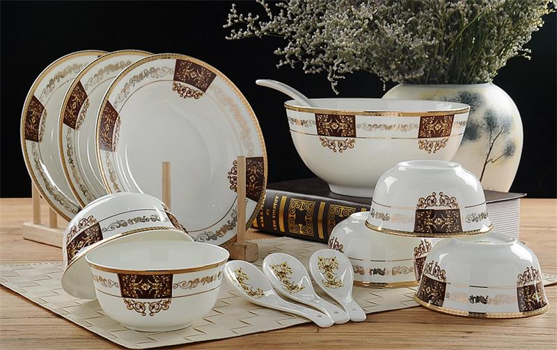 32 Piece Set Royal Fine Bone China Dinnerware Set