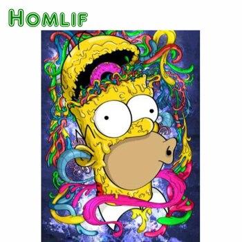 Simpsons home decor diamond painting Sticker Art 1