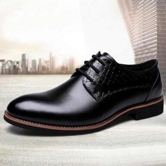 64f1198225a Nuevo 2016 hombres Pu zapatos de vestir de moda para hombre trajes de  negocios zapatos planos