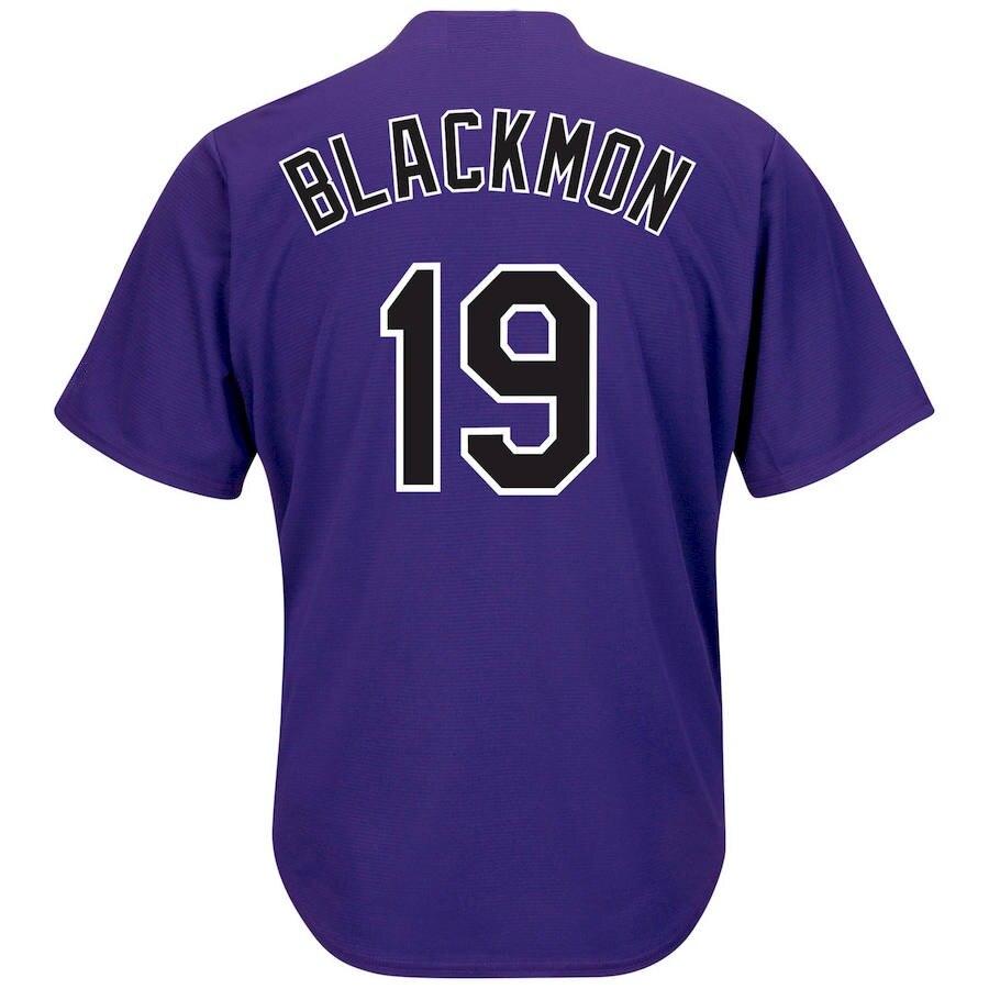 2019 Nouveau Hommes de CHARLIE BLACKMON Personnalisé Colorado Cool Jersey Usa Baseball chemise Avec Patch