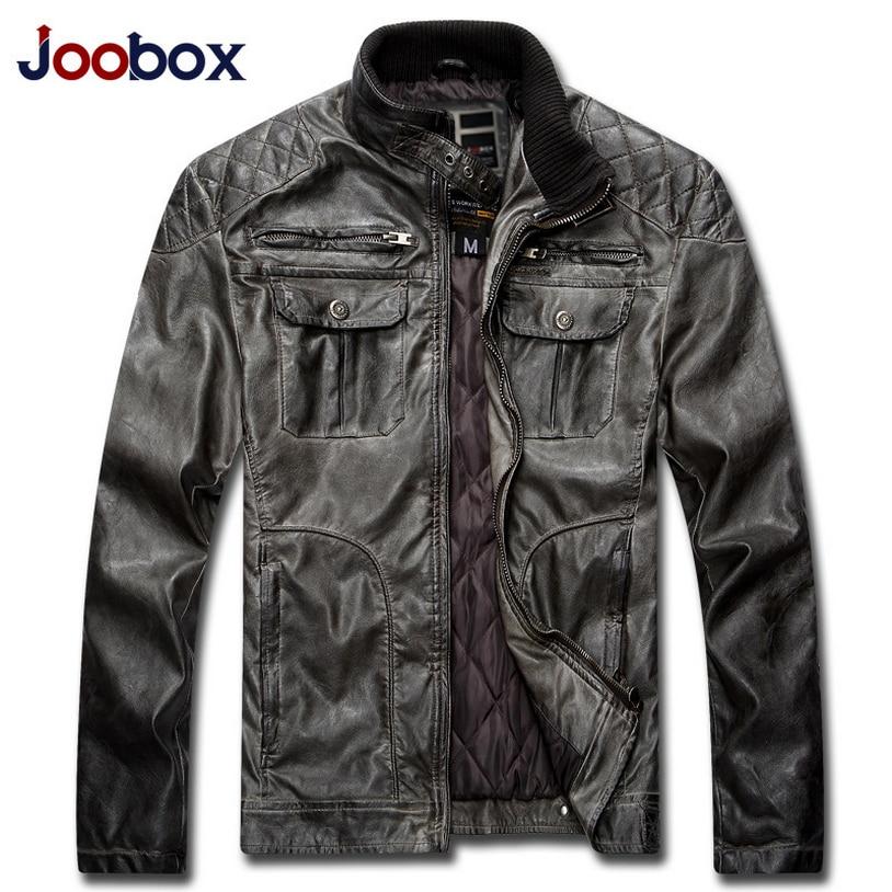 JOOBOX New Winter Casual Leather Jacket Men Retro PU Mens leather jacket Plus size 3XL Male Jackets Jaqueta de couro masculino