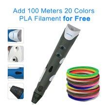 DEWANG 1.75mm 3D Pen Drawing 100M 20 Colors PLA Filament for Free School Supplies 3D Printer Pens