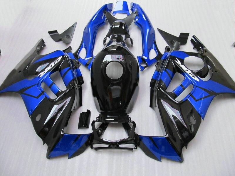 De haute qualité en plastique Carénage kit pour Honda CBR600 F3 97 98 bleu noir carénages ensemble CBR600 F3 1997 1998 FV10