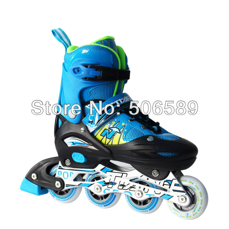 free shipping adjustable roller skates with helmet protectors for children and adults flashing wheel hot sale free shipping children s roller skates pink and blue color