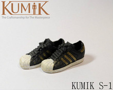 Kumik S-1 Toys 1/6 Scale Female Sports Shoes Girl Round Flat Shoes Model Toys For 12″ Action Figure Body   Accessory
