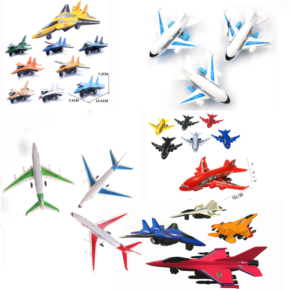 Multi Styles Warplane Helicopter Air Bus Model Airplane Toy Planes For Children Diecasts Vehicles Toy Kids Educational Toy image