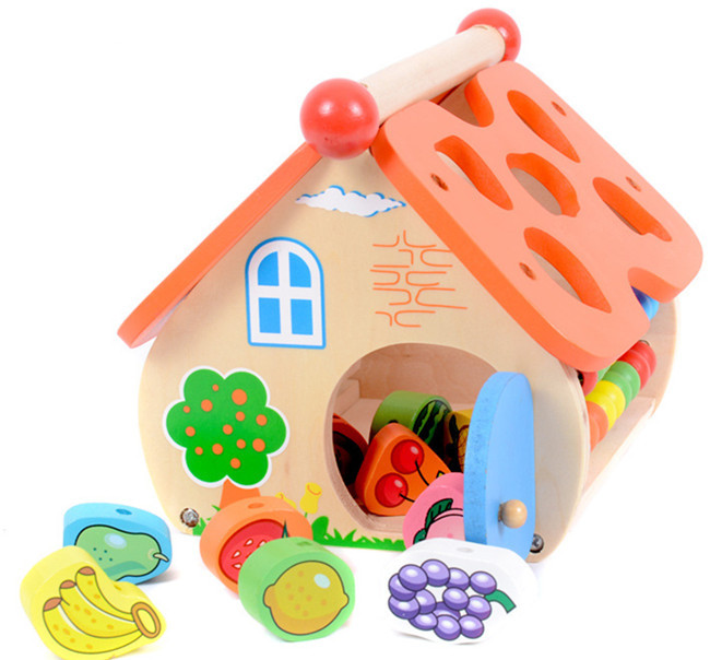 New wooden toy Wisdom House Baby toys Free shipping