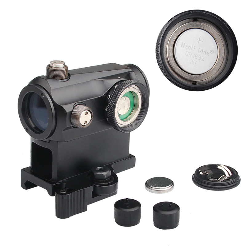 Tactical Mini 1X24 Red Dot Sight Scope with QD Quick Release Mount for Hunting Airsoft RL5-0039-08