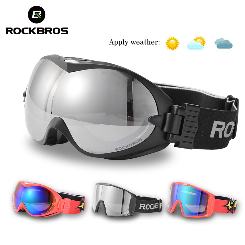 ROCKBROS Winter Sport Ski Goggles Double Layers Anti-Fog Glasses Snow Skiing UV400 Eyewear Snowboard PC Lens Big Mask Men Women все цены