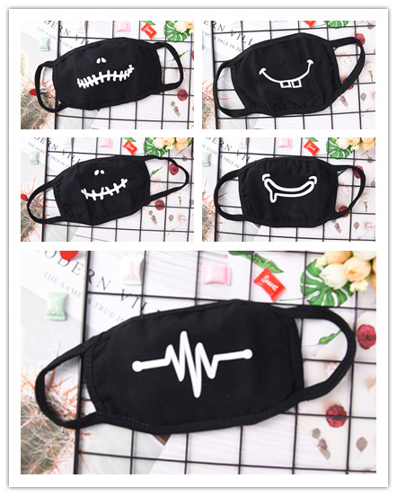 1PC Face Mouth Mask Unisex Mouth-muffle Unisex Respirator Stop Air Pollution Cartoon Lovely Cotton Mask 5 Styles