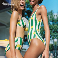 msormosia Women Swimsuit 2019 Bikini Set High Waist Swimwear Female Floral Bathing Suit Women Swimming Suit Beach jumpsuit