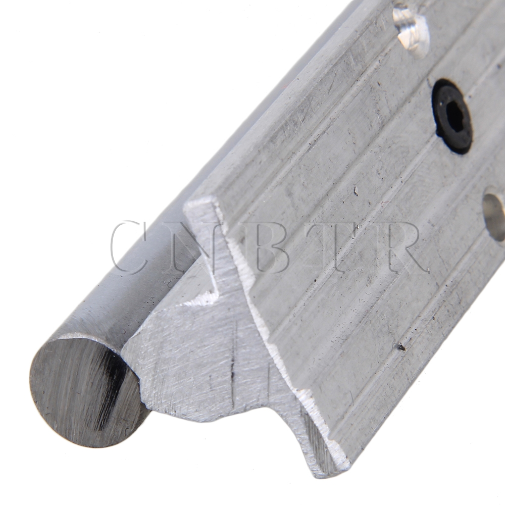 L400mm 12mm Shaft Dia Linear Bearing Support Rail CNC Linear Motion