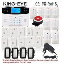433 mhz sistema de alarma inalámbrica gsm antirrobo de seguridad Ruso Español Checo voz sensor de alarma kit
