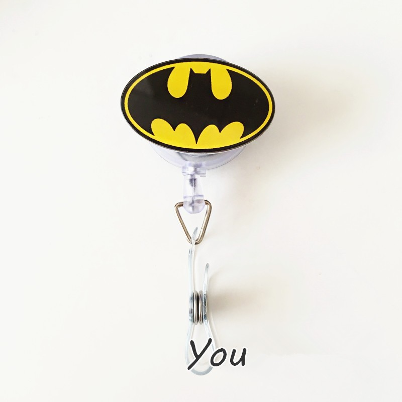 1pcs Fashion Cartoon Batman Retractable Badge Reel Student Nurse ...