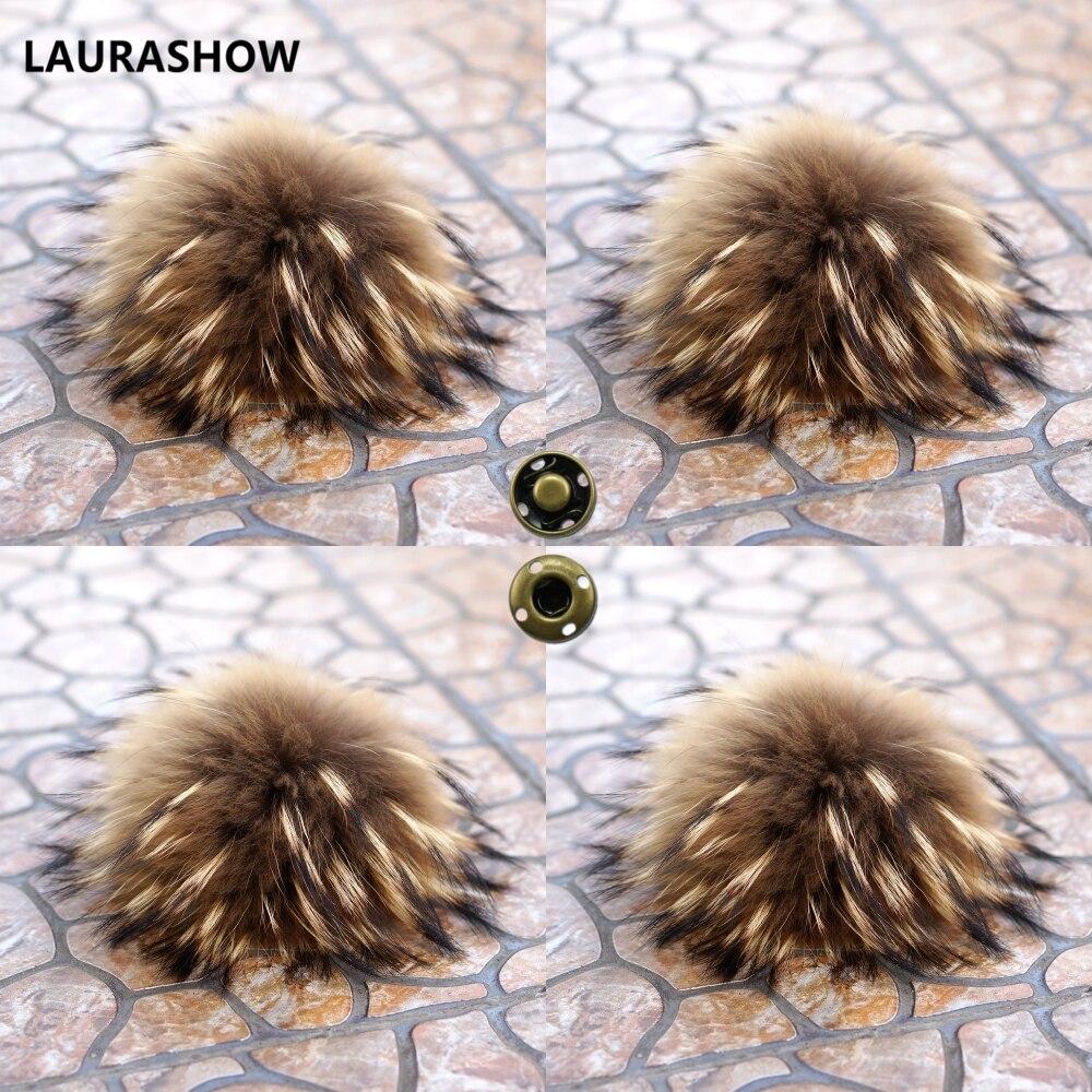 LAURASHOW 16 17 cm Reale Raccoon collo di Visone Palla di pelo di ... 20c4c6915cde