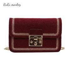 Women Shoulder Bag Pu Leather For Fashion Crossbody Portable Mini Retro Sen Chain Small Square Package